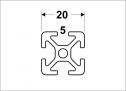 Alu-Profile Nut 5