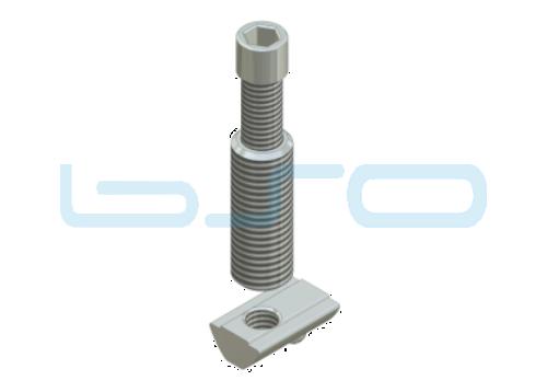 Combi-Einschraubverbinder Nut 8 L=32mm Hülse L=32mm