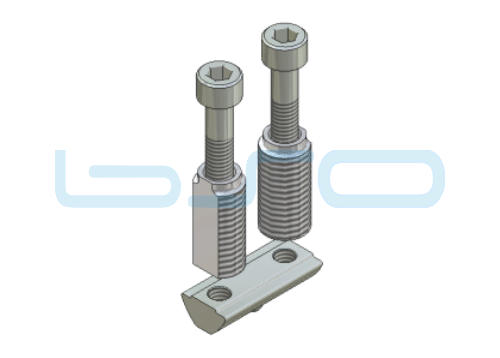 CEV-Verbinder Nut 8 doppelt Raster 30 Nutenstein L=30mm