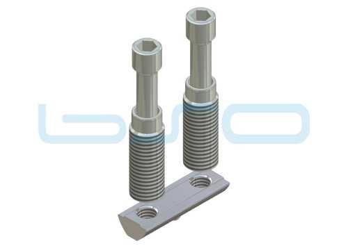 Combi-Einschraubverbinder Nut 8 doppelt L=40mm Hülse L=32mm Potentialausgleichend