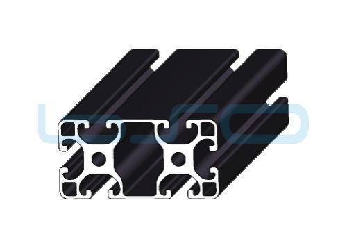 Alu-Profil Nut 8 40x80 leicht schwarz eloxiert