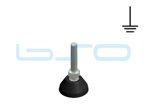 Stellfuß PA 30 M10x45 elektrisch leitend