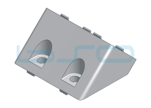 Winkelverbinder Nut 8 40x80Q alufarben