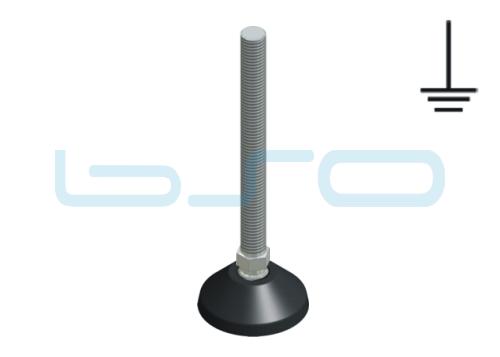 Stellfuß PA 50 M12x125 Edelstahl elektrisch leitend