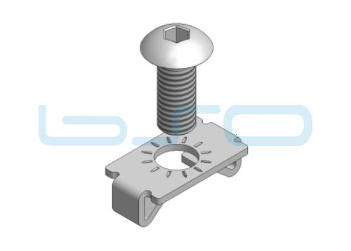 Standardverbinder Nut 5 Edelstahl