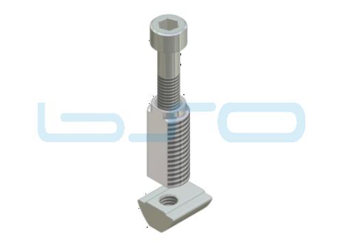 Combi-Einschraubverbinder Nut 8 Raster 30 potentialausgleichend