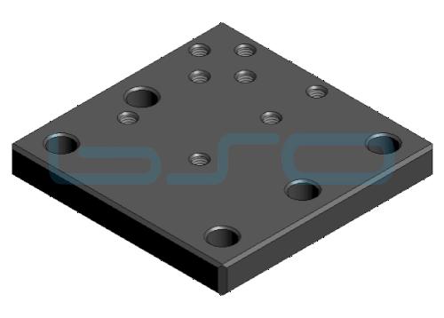 Bodenplatte zum Befestigen von Rahmen oder Ständerprofil