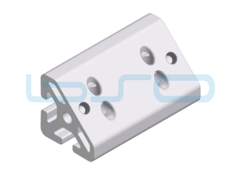 Winkel-Profilelement Nut 8 L=80mm 45 Grad