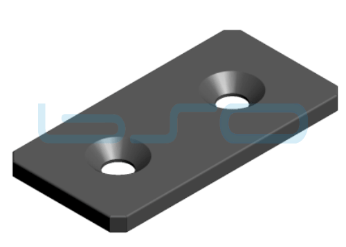 Verbindungslasche Stahl Nut 10 45x90
