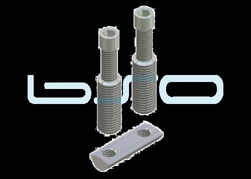 Combi-Einschraubverbinder Nut 8 doppelt L=40mm Hülse L=32mm