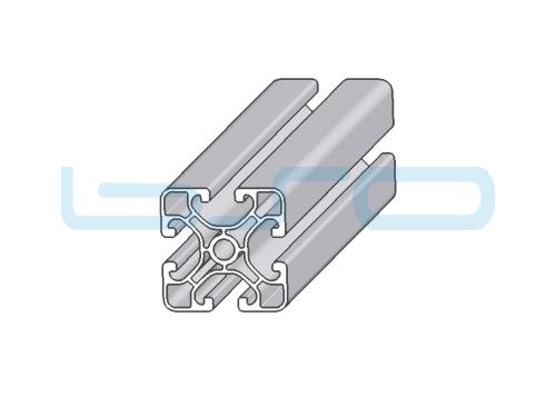 Alu-Profil 40x40 leicht ECO Kernbohrung 6,8mm als Rundloch