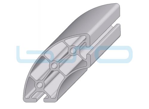 Alu-Profil Nut 8 rund 40x80 90°