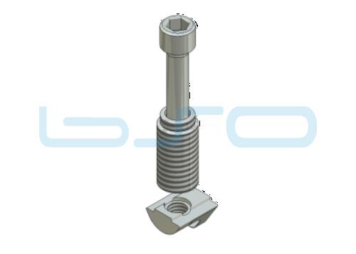 Combi-Einschraubverbinder Nut 6 mit Nut 8 Raster 40