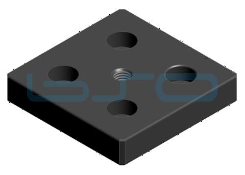 Transport- und Fußplatte Stahl Nut 8 80x80 M10