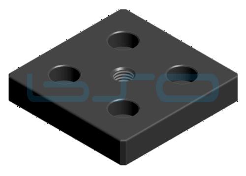 Transport- und Fußplatte Stahl Nut 8 80x80 M12