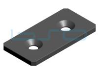 Verbindungslasche Stahl Nut 8 40x80, 4 mm