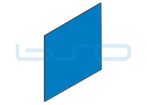 Vollkunststoffplatte blau beidseitig Melaminharz beschichtet 4mm