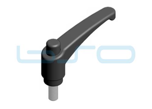 Klemmhebel verstellbar Außengewinde M 4x10 Zn