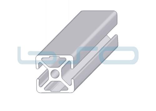 Alu-Profil Nut 8 30x30 2 Nuten 180° geschlossen