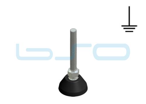 Stellfuß PA 40 M10x90 Edelstahl elektrisch leitend