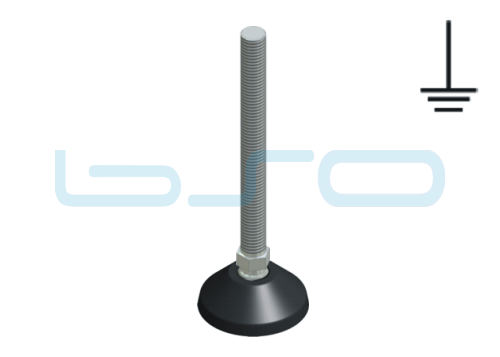 Stellfuß PA 50 M12x125 elektrisch leitend