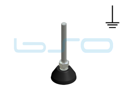 Stellfuß PA 40 M8x80 elektrisch leitend