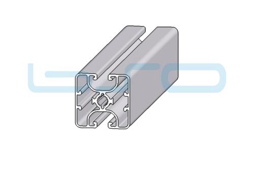 Alu-Profil Nut 8 40x40 ultraleicht 2 Nuten geschlossen