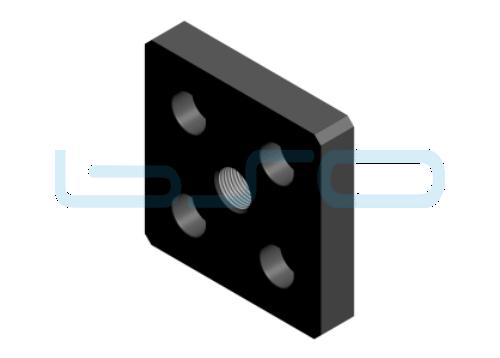 Pneumatik-Anschlußplatte Nut 8 80x80 3/8 schwarz