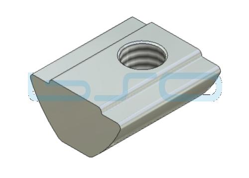 Sonder-Nutenstein Nut 8 Raster 40 u. 30 Gewinde M6 L=15mm mit Zentrierung