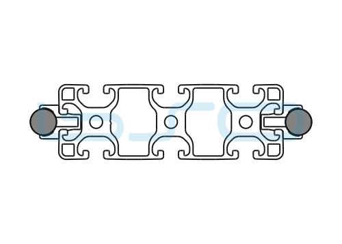 Schlitten Trägersystem W 14 Profil 40x120 leicht-h