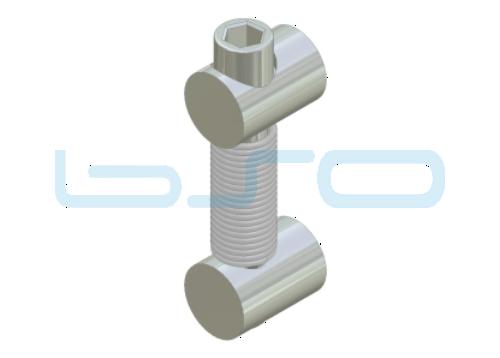 Profilverbinder Stoß 180° einseitig Edelstahl