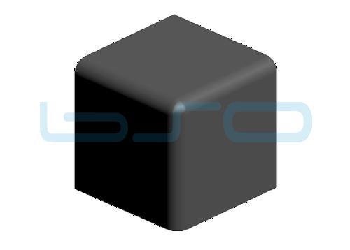 Abdeckkappe Vierkant-Eckwinkel Nut 8 40x40 3x90°