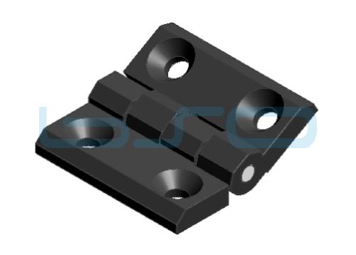Scharnier 60x60 Zink-Druckguß schwarz