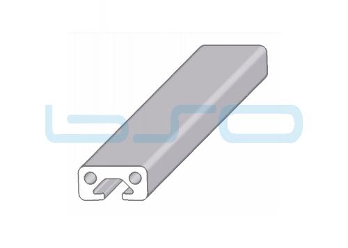 Alu-Profil Nut 5 20x10 1-seitig abgedeckt