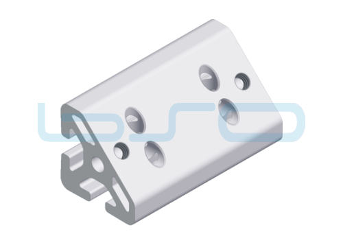 Winkel-Profilelement Nut 8 Raster 60 L=60mm 45 Grad