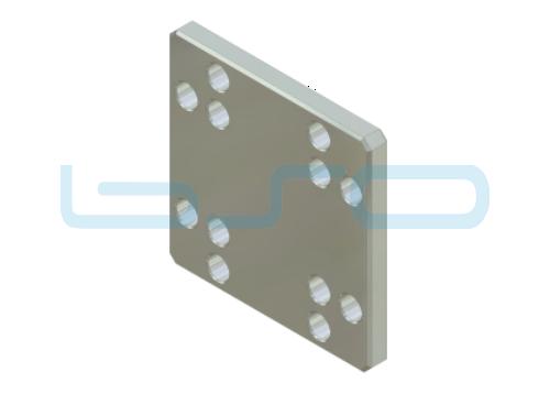Pneumatik-Zwischenplatte Nut 8 80x80