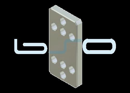Pneumatik-Zwischenplatte Nut 8 40x80