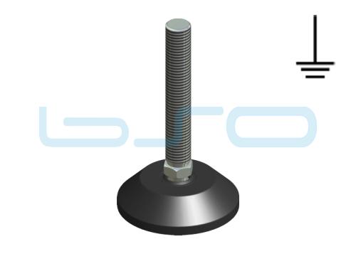 Stellfuß Zn 80 M20x150 elektrisch leitend
