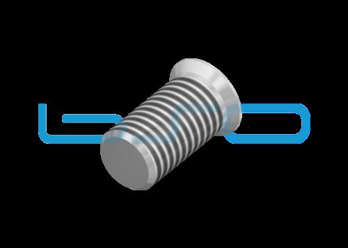 Selbstformende Schraube Senkkopf 7x14 Stahl verzinkt Nut 8 Raster 30 u. 40