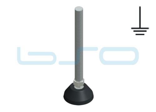 Stellfuß PA 40 M12x125 elektrisch leitend