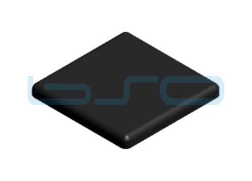 Abdeckkappe Nut 8 80x80 ESD konform