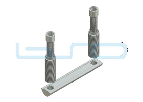 Combi-Einschraubverbinder Nut 8 doppelt L=80mm Hülse L=32mm Potentialausgleichend
