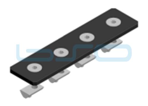 Verbindungslasche-Set Stahl Nut 8 30x120x4