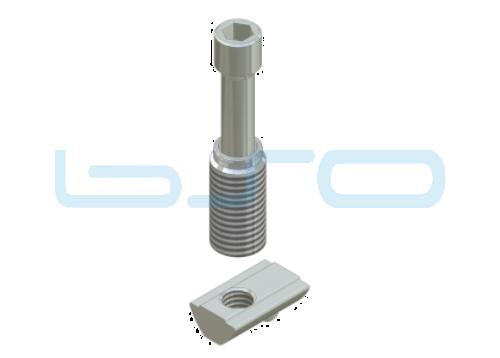 Combi-Einschraubverbinder Nut 8 Edelstahl-Potentialausgleichend