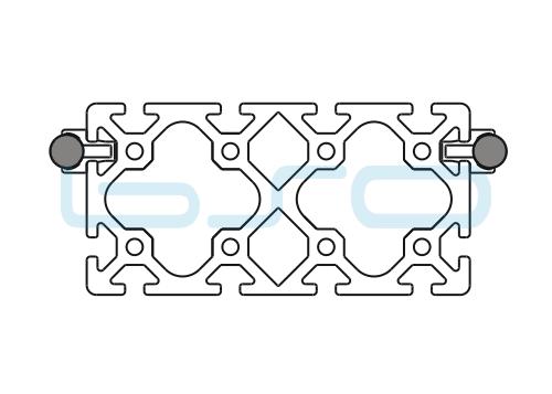Schlitten Trägersystem Welle 14 Profil 80x160 schwer-h