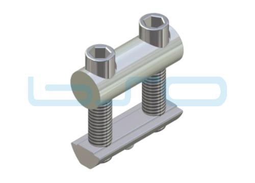 Profilverbinder Raster 40 L=40mm Gewinde M8 potentialausgleichend