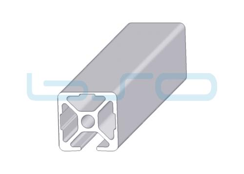 Alu-Profil Nut 8 30x30 3 Nuten geschlossen