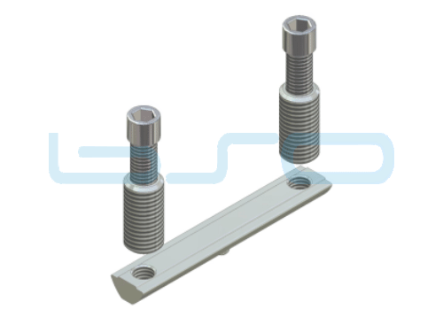 CEV-Verbinder Nut 8 doppelt Raster 40 Nutenstein L=80mm Edelstahl