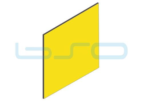 Vollkunststoffplatte gelb beidseitig Melaminharz beschichtet 4mm