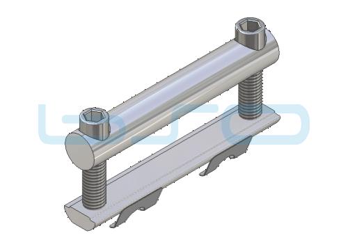 Profilverbinder doppelt Nut 10 Gewinde M8 L=90mm Potentialausgleichend